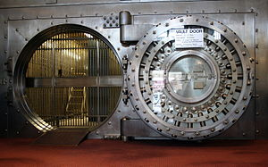 Example of a bank vault door